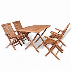 Balkonmöbel Set Klappbar - vidaxl 5 tlg teak essgruppe sitzgruppe gartenm 246 bel set
