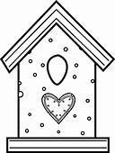 Bird House Coloring Pages 302  Free Printable