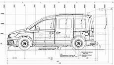 Tif Technische Zeichnungen Caddy Kombi Kurzer Radstand