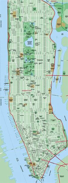 New York Malvorlagen Pdf Printable Map Of Manhattan The International House Is