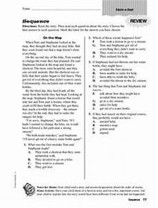 sequence worksheet for 3rd 5th grade lesson planet