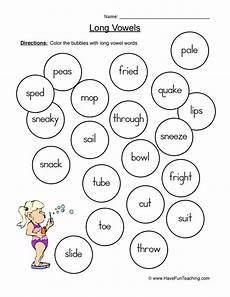 long vowels worksheet 4