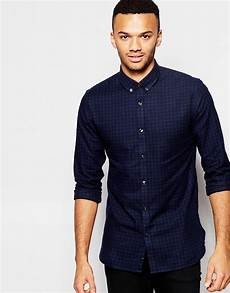 lyst jones premium gingham shirt in slim fit in