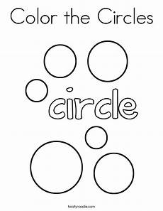 Simple Circle Coloring Pages Color The Circles Coloring Page Twisty Noodle