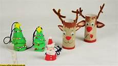 recycling basteln weihnachten nikolaus x 4