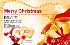 ms word merry christmas party invitation cards word excel templates