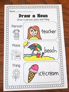 nouns printable worksheet kindergarten first second grade nouns first grade teaching