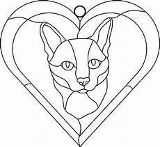 siamese cat drawing stained glass patterns free drawings