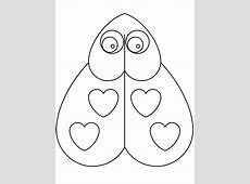 Heartladybug Valentines Coloring Pages & Coloring Book