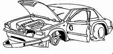 Comic Autos Malvorlagen Kaputtes Auto Ohne Raeder Ausmalbild Malvorlage Auto