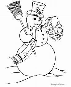free printable coloring sheets snowman