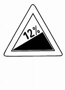 malvorlagen verkehrsschilder quadratisch 12 steigung verkehrsschild ausmalbild malvorlage