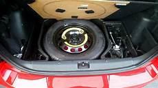 skoda yeti spare wheel kit and false floor in