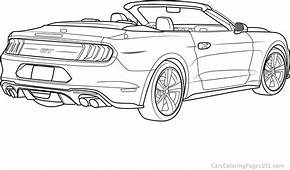 Ford Mustang GT Convertible  2018 Rear View Printable