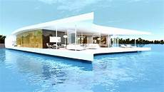 futuristic villa in floating villas at the edge of reality theluxecaf 233