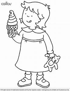 caillou coloring pages to and print for free