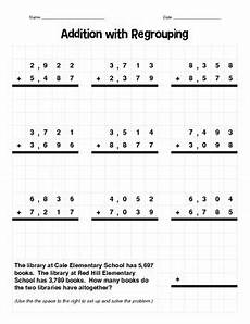 addition of 4 digit numbers with regrouping worksheets 9171 4 digit addition with regrouping by beth tice teachers pay teachers