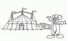 Ausmalbilder Zirkus Kidsweb Malvorlagen Zirkuszelt Budies Color