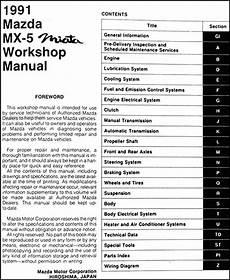 car engine repair manual 1991 mazda mx 5 instrument cluster 1991 mazda mx 5 miata repair shop manual original