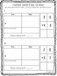 addition worksheets using base ten blocks 8798 connecting 2 digit traditional addition with base ten blocks worksheets