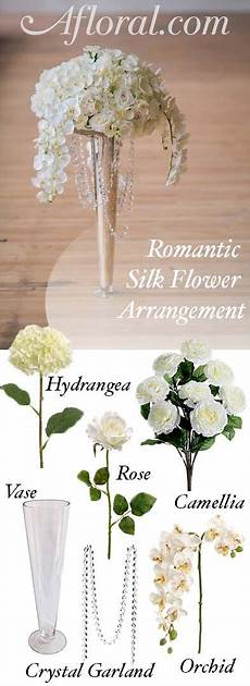 make your romantic wedding centerpieces with silk flowers