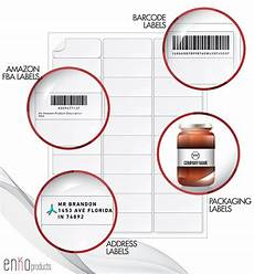 address labels 1 2 5 8 same size as compatible avery 5160 5260 8160 enko products