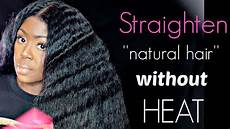 How To Do Black Hairstyles how to straighten hair without heat