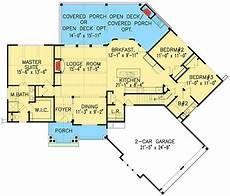 craftsman ranch house plans craftsman inspired ranch home plan 15883ge