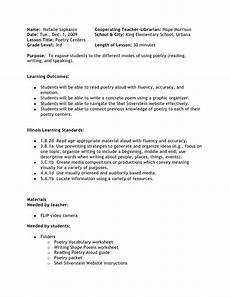 poetry lesson plans for high school 25409 poetry centers lesson plan