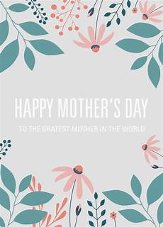 mothers day card printable template 20614 free printable card template for s day