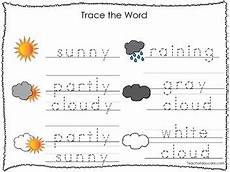 weather words worksheets 14703 2 printable weather themed word tracing activites handwriting tpt