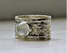 unique rustic stackable moonstone wedding ring