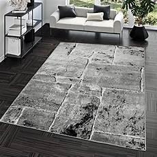 wohnzimmerteppich grau teppich steinboden marmor optik design modern