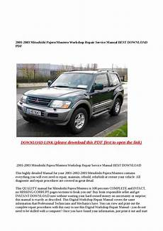free car repair manuals 2001 mitsubishi montero sport seat position control 2001 2003 mitsubishi pajero montero workshop repair service manual best download pdf by abcdeefr