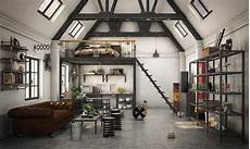 3 stylish and industrial inspired loft loft apartment industrial style 3d animated