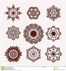 henna design element mehndi blumen vektor abbildung