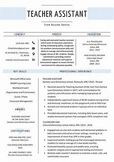teacher assistant resume sle writing tips resume genius