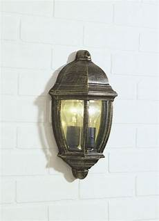 newport 1 light black gold double insulated outdoor wall