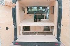 bett im cer einbauen lieferwagen wohnmobil ausbauen