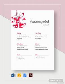 thanksgiving potluck signup sheet template word docs apple pages template net