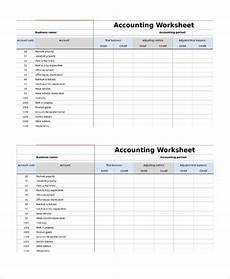 free 9 sle accounting worksheet templates in pdf ms word excel