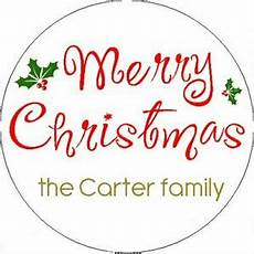merry christmas w family name 1 quot sticker seal labels ebay