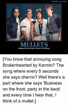 imo buck com mullets business in the front party in the