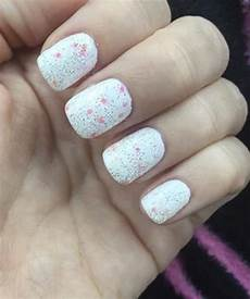 cute white glitter nail art designs dinga poonga