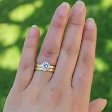 2019 14k yellow gold 0 5ct 5mm moissanite engagement