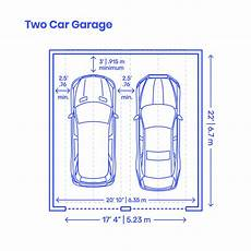 Garage Abmessungen by Two Car Garage Dimensions Drawings Dimensions Guide