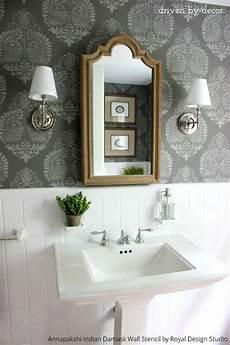 bathroom wall stencil ideas boring bathroom be 10 bathroom makeover ideas using stencils paint pattern