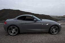 bmw z4 e89 wrapped in matte grey vinyl carscoops