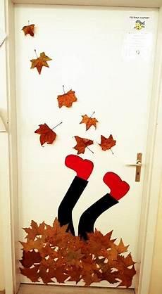 Herbst Basteln Kinder Fenster - herbst t 252 re dekoration auch f 252 r den kindergarten