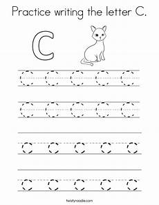 letter c handwriting worksheets 24055 practice writing the letter c coloring page twisty noodle